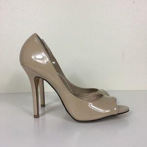Elle Cream Open Toe High Heels